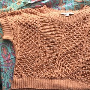 Forever 21 Dusty pink summer open knit top